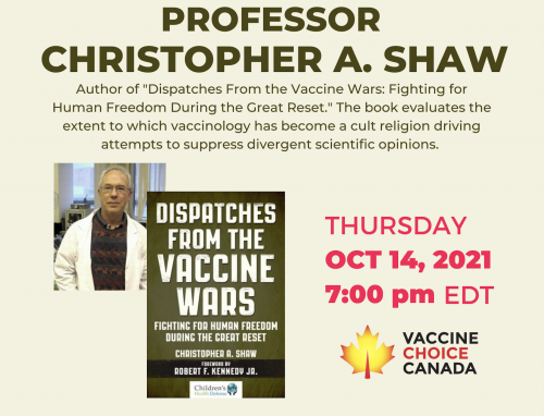 Dr. Chris Shaw, Ph.D - Dispatches From the Vaccine Wars